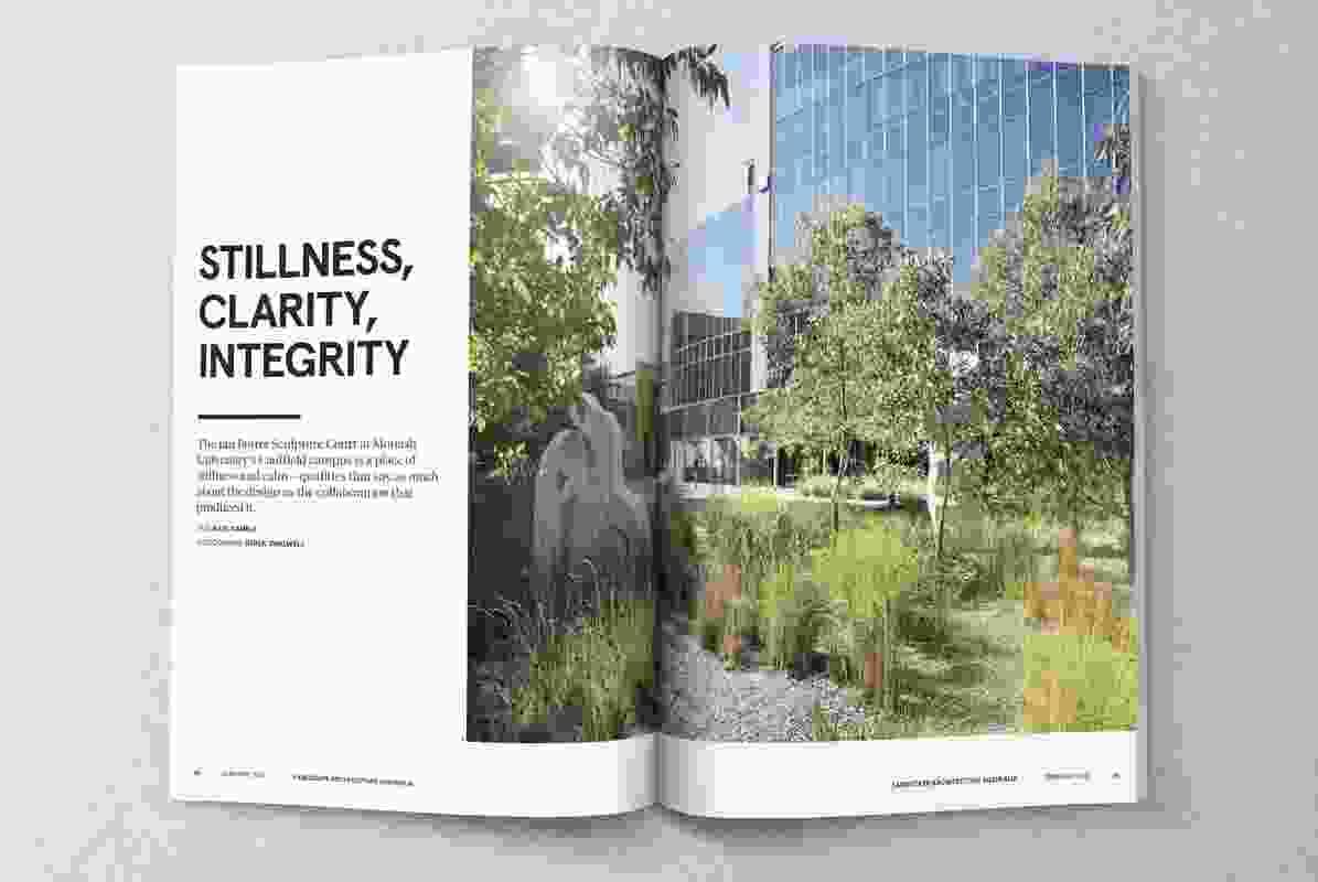 Spread from Landscape Architecture Australia 149.