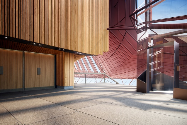 Design for upgrades to the Sydney Opera House Concert Hall lift by ARM Architecture.