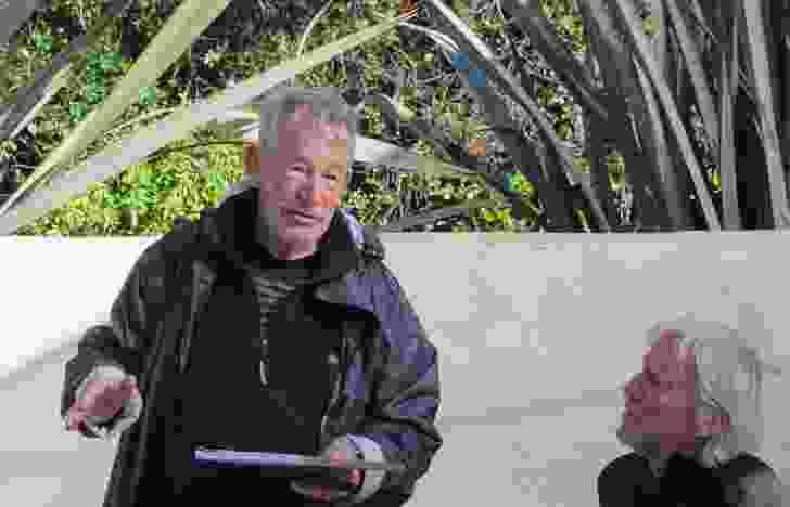 Ian Athfield, left, with Peter Stutchbury.