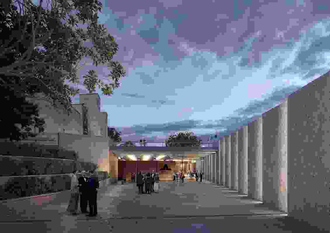 The proposed new southern entrance designed by Scott Carver will be created below the existing forecourt.