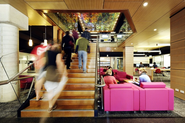 QUT Kelvin Grove Library refurbishment – Peddle Thorp Architects with James Cubitt Architects