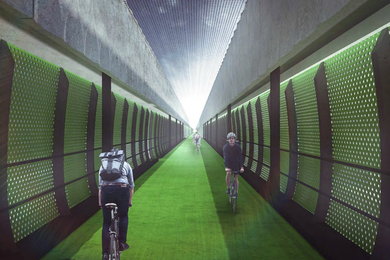 The 2.4km-long veloway will provide a route for cyclists traveling to the CBD from Melbourne's west.