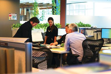 The office of AECOM Brisbane is an amalgam of several existing companies, including EDAW, Maunsell and Davis Langdon.