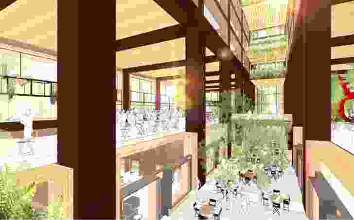 The atrium will have landscaped breakout social spaces.
