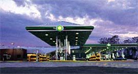 The truck canopy at the Stapylton BP, the