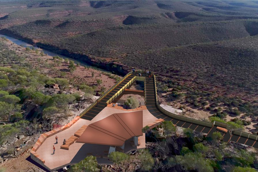 The proposed design for the skywalks in WA's Kalbarri National Park by Eastman Poletti Sherwood Architects.