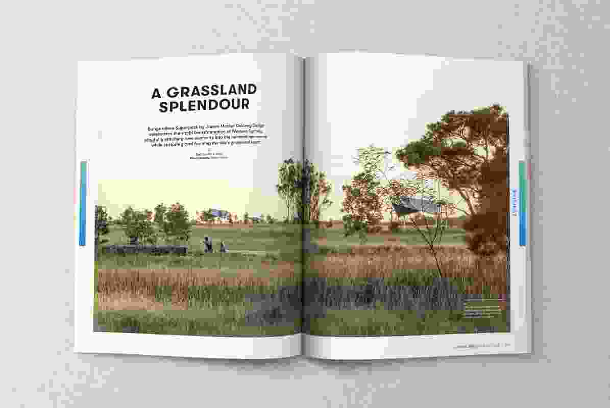 A spread from the February 2019 issue of Landscape Architecture Australia.