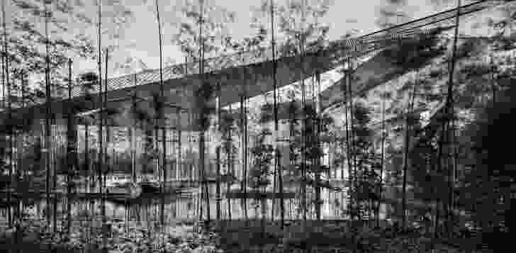Garden Terrace Miyazaki by Kengo Kuma and Associates.