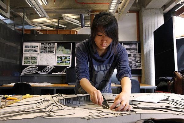 A student at the Auckland University School of Architecture.