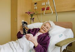 A patient in one of the single rooms. Image: Dianna Snape