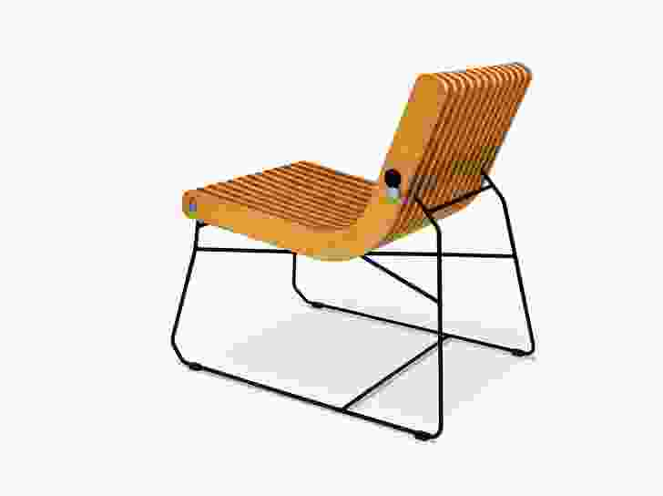 The Squash Me chair, designed in 2008.