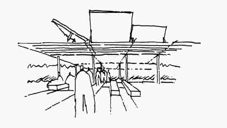 Sean Godsell's sketch of the new MPavilion.