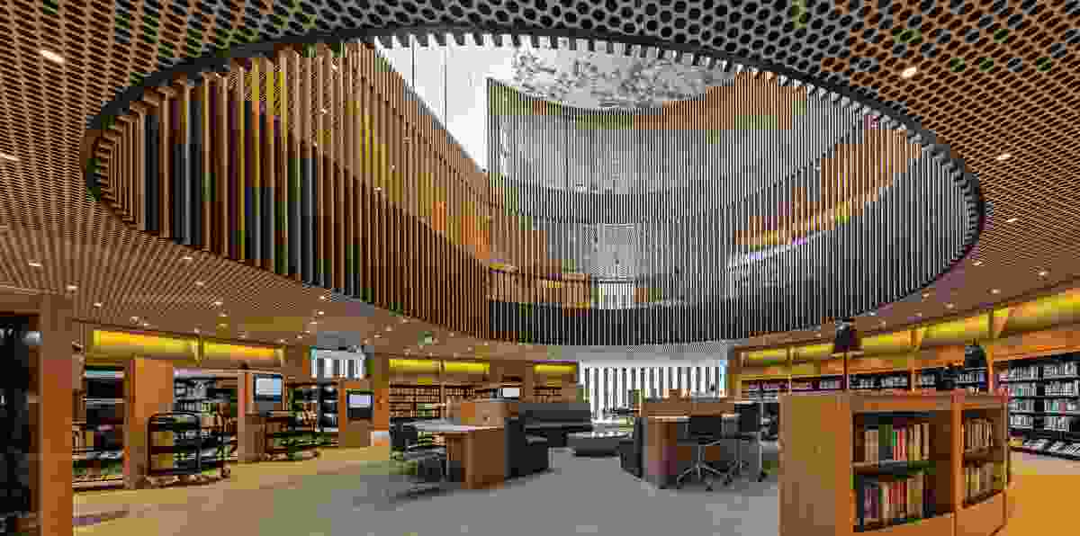 The City of Perth Library by Kerry Hill Architects.
