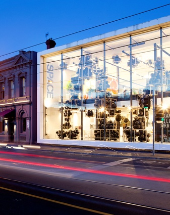 Frame Fill Wrap, Space Showroom – Hassell.