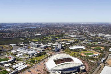 Indicative image of the redeveloped Stadium Australia by Cox Architecture.