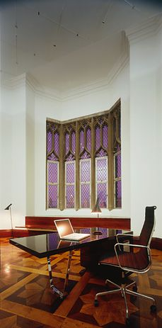 In addition to the larger works, small refurbishments have invisibly mended Edmund Blacket's original design. For example, white oak and jarrah inserted into the parquetry.