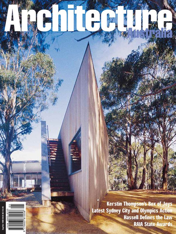 Architecture Australia, September 1999