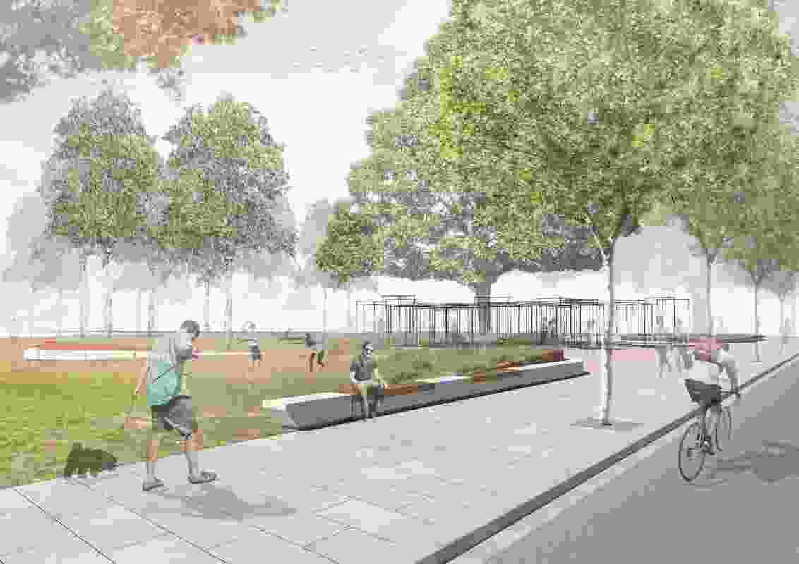 Docklands City Park – Stage 1 render.