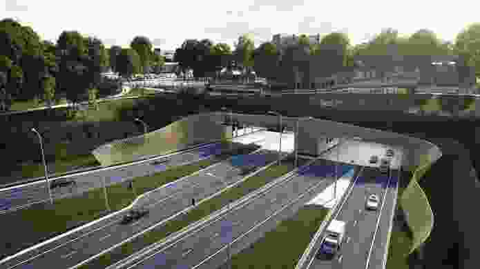 Hassell's urban design/landscape plan involves designs for the entrances and interiors of WestConnex tunnels.
