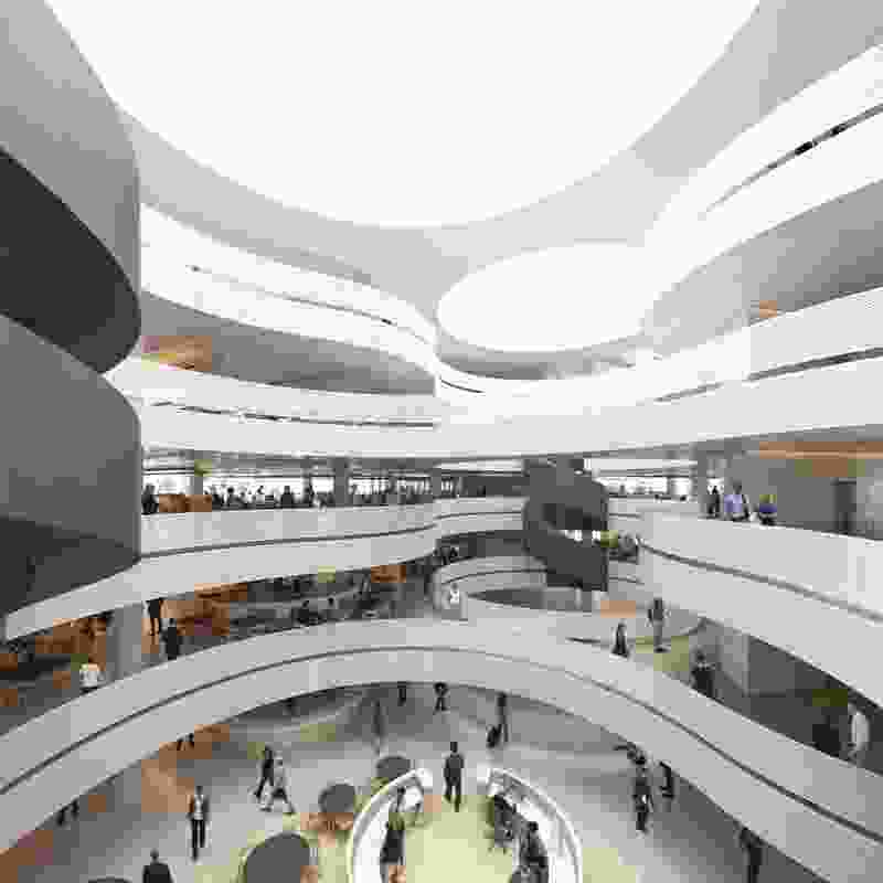 The atrium of the proposed ACT government building.