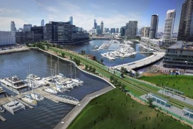 A vision of how the Fishermans Bend urban renewal area could look in the future.