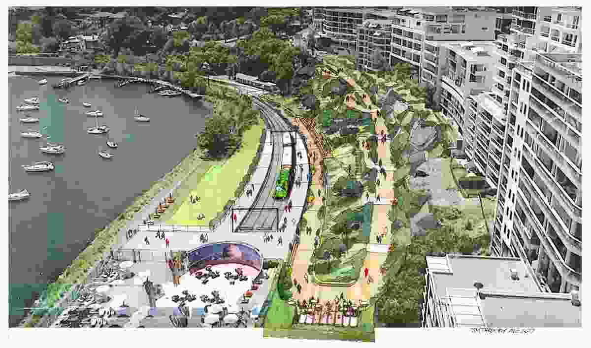 Proposed ramp access from Harbourview Crescent.