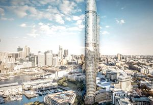 The proposed $530 million Star Casino hotel and residential tower in Pyrmont, designed by FJMT, was rejected by the planning department.