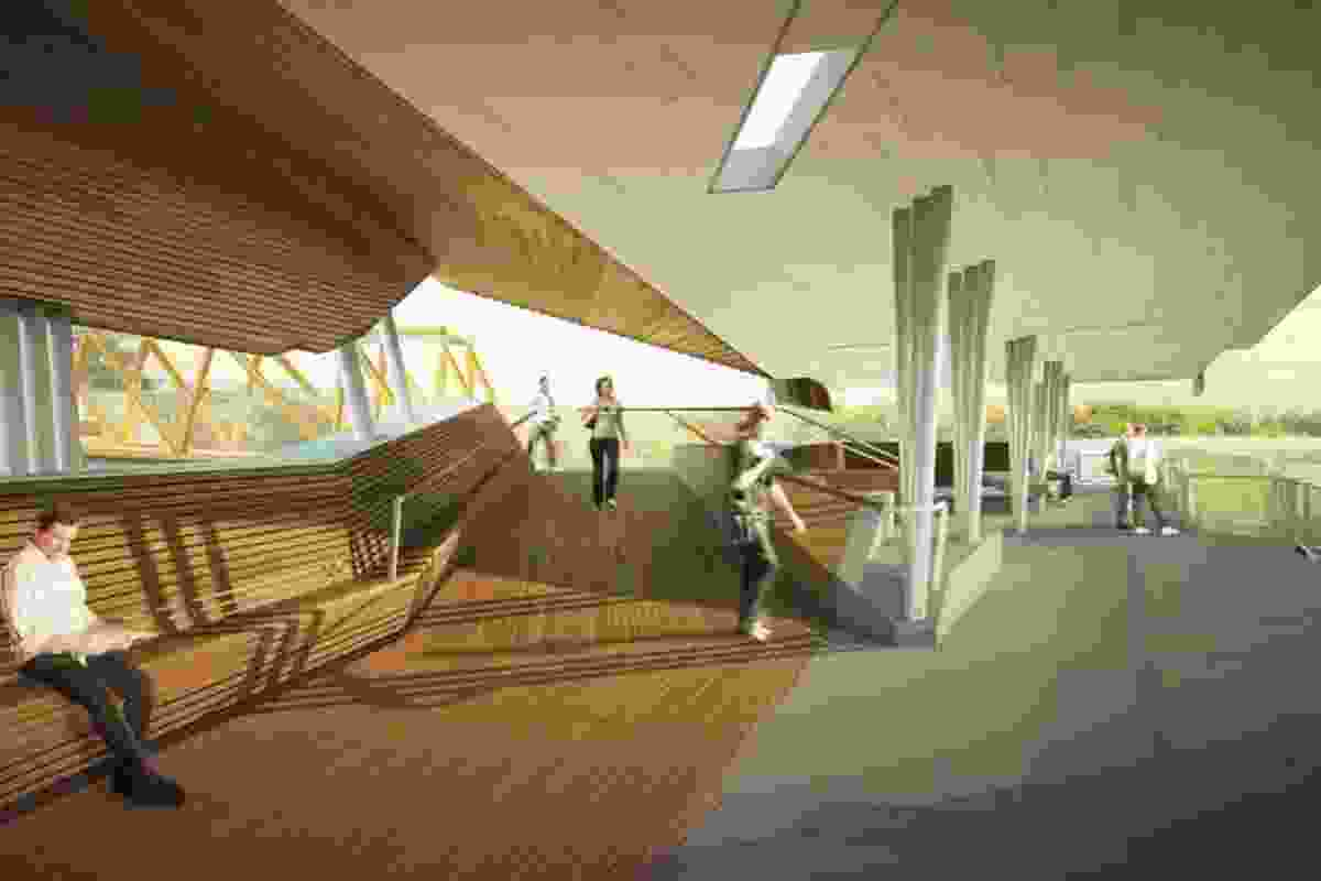 Brisbane Ferry Terminals Post-Flood Recovery by Cox Rayner Architects.