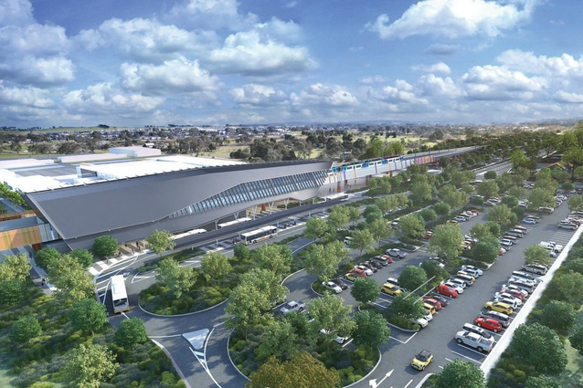 Mernda station by Grimshaw Architects.