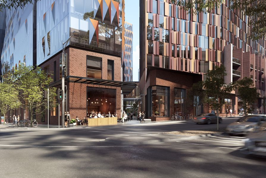 Indicative render of the Carlton Connect innovation precinct to be designed by Woods Bagot and Hayball.