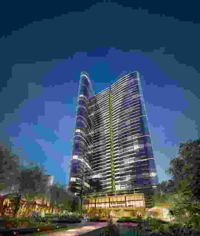 The approved East Tower designed by Fender Katsalidis Architects in Melbourne Quarter development.