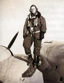 "Peter Johnson, the airman, ""all set to go""."