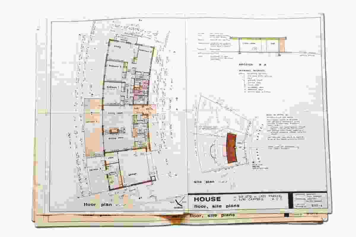 Original plans of the Frankel House.