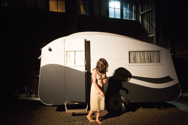 "Genevieve Lilley Architects' caravan plays with a ""typical"" Australian memory."