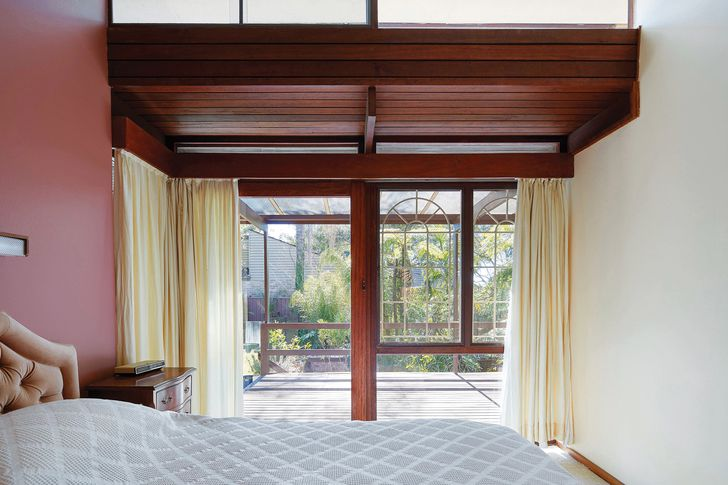 The bedrooms are modestly sized but offer views to garden and greenery.