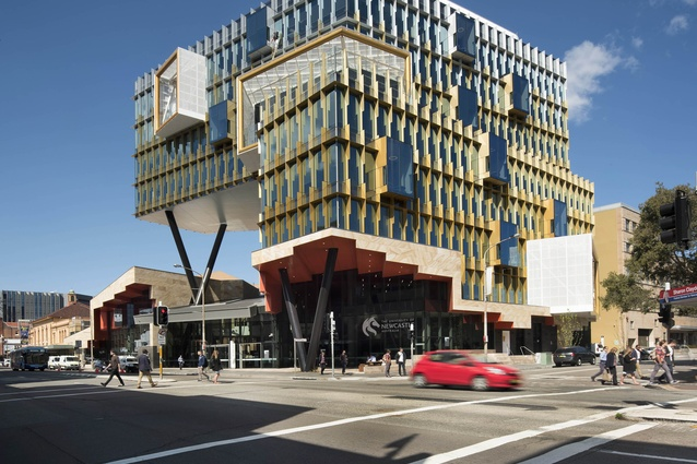 NeW Space by Lyons and EJE is located at the University of Newcastle's city campus.