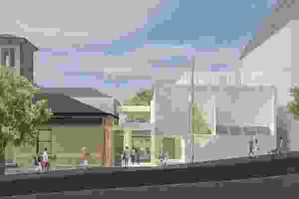 通过威尔士和专业的拟议延伸和翻新Pyrmont社区中心。