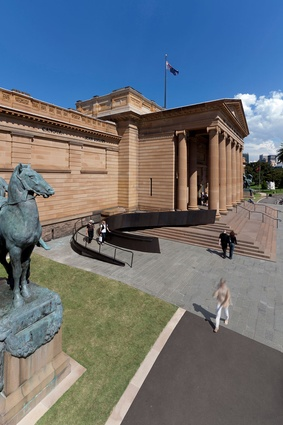 Art Gallery of NSW Forecourt Upgrade by Johnson Pilton Walker.