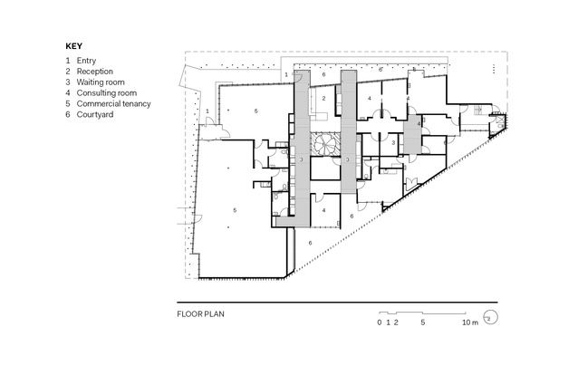 Ormuz Specialist Eye Clinic floor plan.