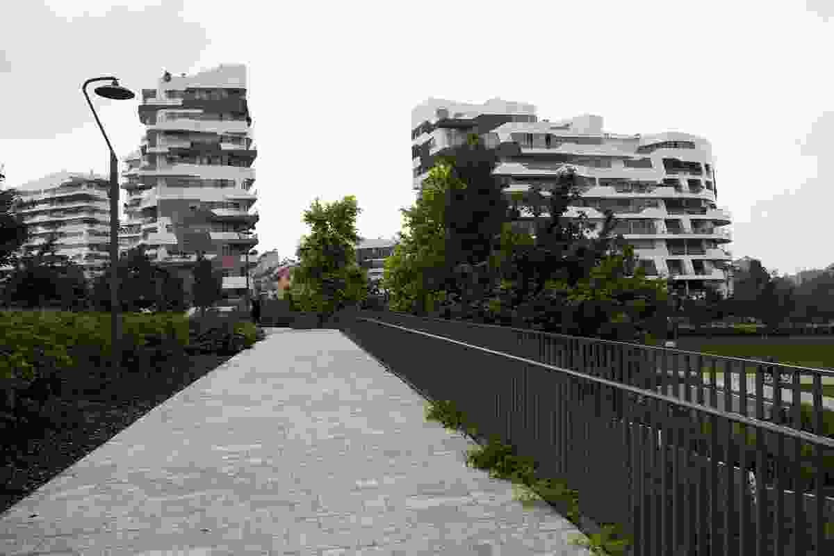 Zaha Hadid Architects' residential buildings at City Life in Milan.