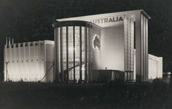 Australian Pavilion, New Zealand Centennial Exhibition,Wellington, NZ, 1940, by Stephenson & Turner. Gelatin silver photograph by Russell Roberts.