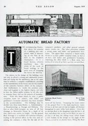 The obsessive enumeration of The Salon's review of the Automatic Bread Factory, Brisbane. The Salon, August 1914.