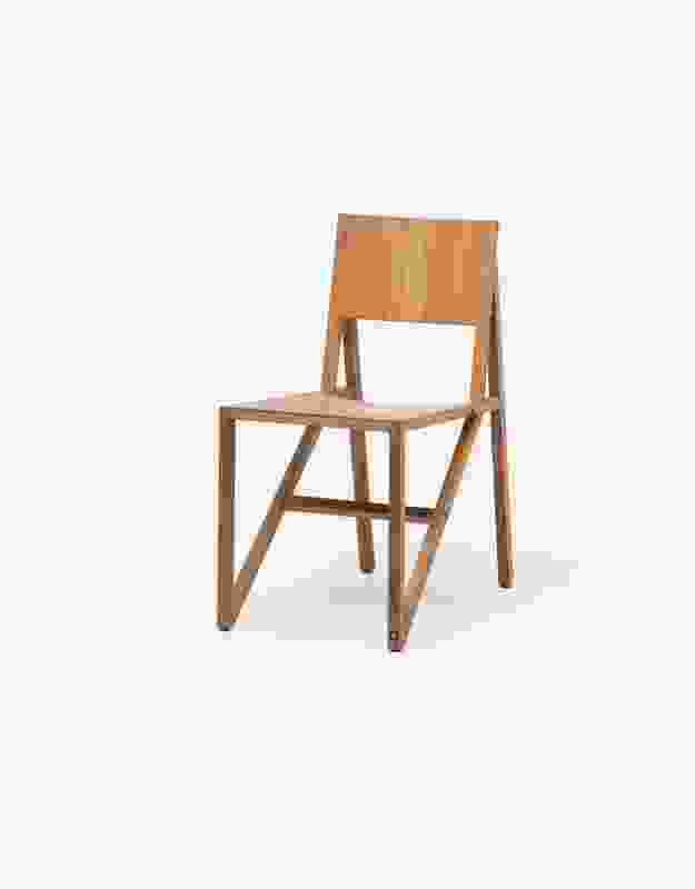 The design of the Frame chair (2008) by Wouter Scheublin emphasizes its very construction.