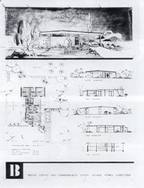 Competition drawing for a Type B House by Silver Fairbrother and Associates.
