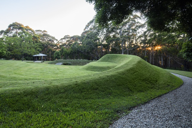 Terraforming in Michael Bates' own garden in the Blue Mountains.