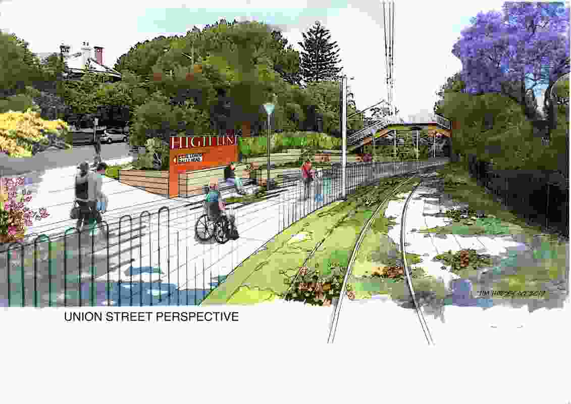 Proposed access at Union Street.