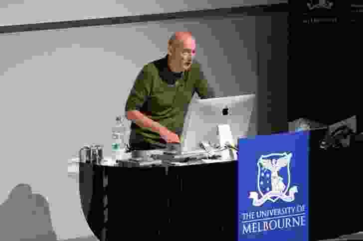 Rem Koolhaas presenting at the Melbourne School of Design.