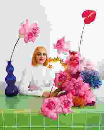 花艺艺术家Hattie Molloy。