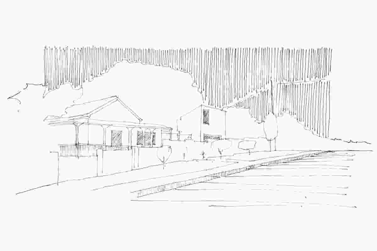 Sketch of the Taringa Pavilion.