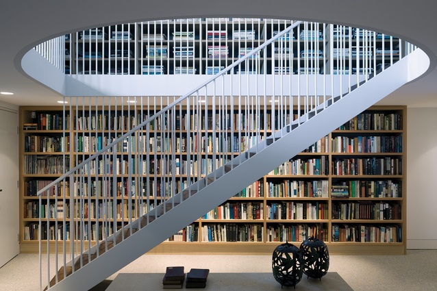 """The white dowel balustrade gives a sense of """"energy and dynamism."""""""